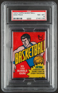 1974 Topps Basketball Unopened Wax Pack PSA NM-MT 8 - Walton & Gervin Rookie Year!