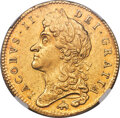 "Great Britain, Great Britain: James II gold ""Elephant & Castle"" 5 Guineas 1687 MS60 NGC,..."
