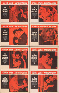"The Black Orchid & Other Lot (Paramount, 1959). Very Fine+. Lobby Card Sets of 8 (2 Sets) & Lobby Card (11""..."
