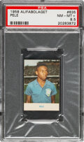 Olympic Cards:General, 1958 Alifabolaget Pele #635 Rookie PSA NM-MT+ 8.5....