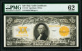 Fr. 1187 $20 1922 Gold Certificate PMG Uncirculated 62
