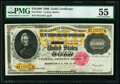 Large Size:Gold Certificates, Fr. 1225h $10,000 1900 Gold Certificate PMG About Uncirculated 55.. ...