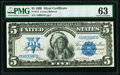 Large Size:Silver Certificates, Fr. 271 $5 1899 Silver Certificate PMG Choice Uncirculated 63.. ...