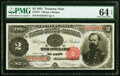 Fr. 357 $2 1891 Treasury Note PMG Choice Uncirculated 64 EPQ