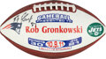 Football Collectibles:Balls, 2011 Rob Gronkowski Signed Painted Game Ball....