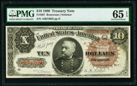Fr. 367 $10 1890 Treasury Note PMG Gem Uncirculated 65 EPQ