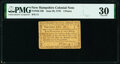 Colonial Notes:New Hampshire, New Hampshire June 28, 1776 4d PMG Very Fine 30.. ...