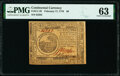Colonial Notes:Continental Congress Issues, Continental Currency February 17, 1776 $6 PMG Choice Uncirculated 63.. ...
