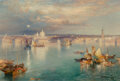 Paintings, Thomas Moran (American, 1837-1926). Venetian Scene, 1898. Oil on canvas . 13-1/4 x 20-1/8 inches (33.7 x 51.1 cm). Signe...