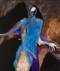 Fritz Scholder (American, 1937-2005) Possession #14 Oil on canvas 80 x 68 inches (203.2 x 172.7