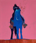 Paintings, Fritz Scholder (American, 1937-2005). Indian on Blue Horse, 1975. Oil on canvas. 80 x 68 inches (203.2 x 172.7 cm). Sign...