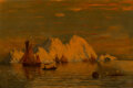 Paintings, William Bradford (American, 1823-1892). Off the Coast of Labrador. Oil on canvas. 20 x 30 inches (50.8 x 76.2 cm). Signe...
