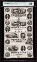 Obsoletes By State:Tennessee, Cleveland, TN- Ocoee Bank $5-$5-$10-$20 July 1, 1854 G8P-G8P-G12P-G16P Garland 207-207-210-213 Proof Sheet PMG About Uncir...