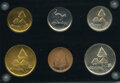 """Bahamas:Cat Cays, Bahamas: 6-Piece Lot of """"Cat Key Club"""" Key Tokens ND UNC,,... (Total: 6 coins)"""