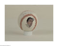 Autographs:Cut-outs, JOE DIMAGGIO SINGLE SIGNED BASEBALL. This Joe Dimaggio ...