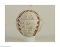 Autographs:Cut-outs, 1973 BOSTON RED SOX TEAM SIGNED BASEBALL. Boston had four ...