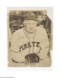 "Autographs:Cut-outs, HONUS WAGNER SIGNED 11"" X 14"" B/W PHOTO. That this ..."