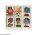 Baseball Cards:Sets, 1967 TOPPS RED SOX STICKERS SET (33). Combined into a rare ...