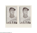 Baseball Cards:Other, 1966 EXHIBIT CARL YASTRZEMSKI LOT OF 2. Here are not one ... (2 cards)