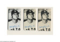 Baseball Cards:Singles (1970-Now), 1974 TOPPS DECKLE EDGE CARL YASTRZEMSKI #43 W/2 PROOF CARDS ... (3cards)