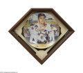 Baseball Cards:Other, CARL YASTRZEMSKI GARTLAN PLATE WITH SHADOW BOX. From ...