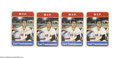 Baseball Cards:Other, CARL YASTRZEMSKI SPORTS IMPRESSIONS CERAMIC CARDS LOT OF 4.