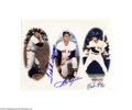 Autographs:Cut-outs, TED WILLIAMS AND CARL YASTRZEMSKI SIGNED PHOTOS LOT OF 2. ... (2items)