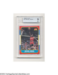 1986 FLEER MICHAEL JORDAN #57 Mint Beckett 9. This mint example of Jordan's rookie card is exactly what you would expect...