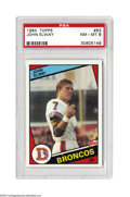 Football Cards:Singles (1970-Now), Football 1984 TOPPS JOHN ELWAY #63 NM/MT PSA 8.