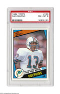 Football Cards:Singles (1970-Now), Football 1984 TOPPS DAN MARINO #123 NM/MT PSA 8.