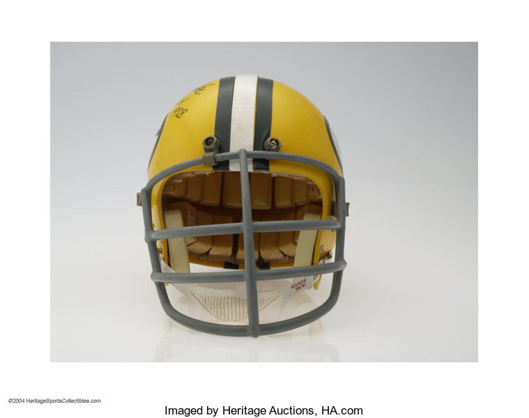 82e43847da5 Green Bay Packers 1961-79 Reproduction Helmet Autographed By ...