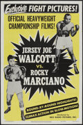 "Movie Posters:Sports, Walcott vs. Marciano (RKO, 1952). One Sheet (27"" X 41""). Sports...."