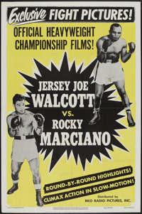 "Walcott vs. Marciano (RKO, 1952). One Sheet (27"" X 41""). Sports"