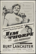 """Movie Posters:Sports, Jim Thorpe - All American (Warner Brothers, R-1957). One Sheet (27"""" X 41""""). Sports...."""