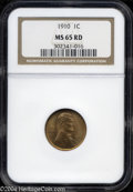 Lincoln Cents: , 1910 MS65 Red NGC. The current Coin Dealer Newsletter (...