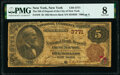 New York, NY - $5 1882 Brown Back Fr. 470 The National Bank of Deposit Ch. # 3771 PMG Very Good 8.<