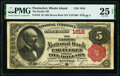 Pawtucket, RI - $5 1882 Brown Back Fr. 470 The Pacific National Bank Ch. # 1616 PMG Very Fine 25 EPQ.</