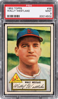 Baseball Cards:Singles (1950-1959), 1952 Topps Wally Westlake (Red Back) #38 PSA Mint 9 - Pop Five, None Higher....