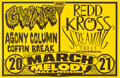 Music Memorabilia:Posters, Gwar / Redd Kross Melody Ballroom Concert Poster Signed by Designer Mike King (early 1990s). ...