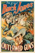 "Movie Posters:Western, Outlawed Guns (Universal, 1935). Fine/Very Fine on Linen. One Sheet (27"" X 41"").. ..."