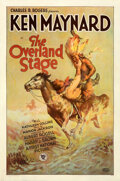 Movie Posters:Western, The Overland Stage (First National, 1927). Very Fine- on L...