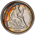 Seated Half Dimes, 1866 H10C -- Cleaning -- PCGS Genuine. VF Details. PCGS Population: (4/92 and 0/4+). NGC Census: (0/57 and 0/0+). CDN: $600...