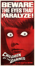Movie Posters:Science Fiction, Children of the Damned (MGM, 1963) Very Fine+ on Linen.