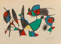 Joan Miró (1893-1983) Untitled, from Lithographie II, 1975 Lithograph in colors on wove p