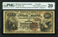 National Bank Notes:North Carolina, Winston, NC - $10 1882 Brown Back Fr. 484 The Peoples National Bank Ch. # (S)4292 PMG Very Fine 20.. ...