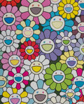 Prints & Multiples, Takashi Murakami (b. 1962). A Little Flower Painting: Yellow White and Purple Flowers, 2017. Offset lithograph in colors...