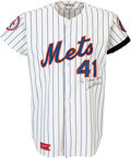 Baseball Collectibles:Uniforms, 1976 Tom Seaver Game Worn & Signed New York Mets Jersey, MEARS A9.5--Photo Matched!...