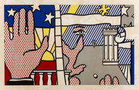 Roy Lichtenstein (1923-1997) Inaugural Print, 1977 Screenprint in colors on Arches 88 paper 20 x