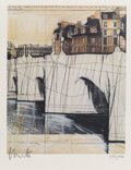Collectible, Christo (1935-2020). Christo et Jeanne-Claude Paris!, 2020. Offset lithograph in colors on wove paper, with exhibition c...