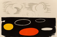 Alexander Calder (1898-1976) Clouds and Discs, mid-20th century Lithograph in colors on wove paper